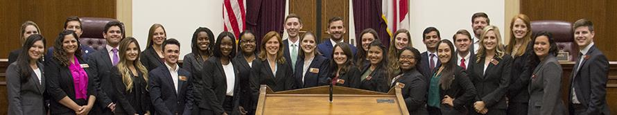 the moot court team