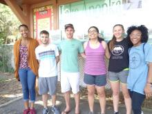 ASB Participants on a Toxic Tour of Lake Apopka (Left to Right: 2L Daynica Harley, 1L Yazel Sepulveda, 1L Barclay Mitchell, 3L Margeling Santiago, 1L Peyton Smith, 1L Lauren Rolfe).